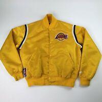 VTG NBA LA Los Angeles Lakers Gold Satin Starter New Haven Jacket Men's Large