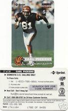 1996 PRO LINE INTENSE CARL PICKENS $3 PHONE CARD /9455