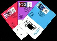 Israel 979-981, Industry Centenary, Phila Maxi Maximum Card