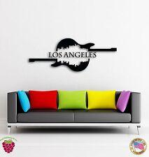 Wall Sticker Guitar Los Angeles Music California Cool Modern Decor z1513