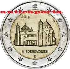 5 ZECCHE 2 EURO GERMANIA 2014 A D F G J  Chiesa di San Michele Hildesheim Belle