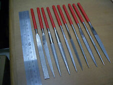 """Assorted 10 pieces set 180mm 7"""" inch Thk Diamond coated file files Grit 120"""