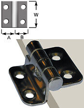 PAIR OF OFFSET HINGES IN STAINLESS STEEL 35mm x 37mm