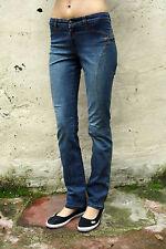 9.2 BY CARLO CHIONNA Sexy Jeans Denim Blu Gamba Dritta Stretch W28 UK10 ITALIA