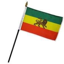 4x6 Ethiopia Lion Stick Flag Ethiopian Lion Stick Flag Table Staff Desk Table