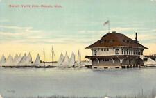 Detroit Yacht Club, Detroit, Michigan Sailboats c1910s Vintage Postcard