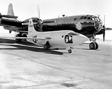 Bell X-1-2 rocket plane on airport runway with Boeing B-29 Photo Print