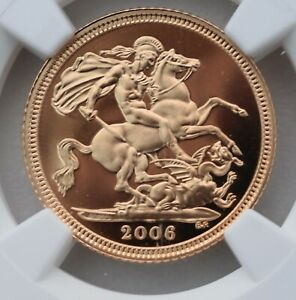 2006 Gold Proof 1/2 Sovereign Half NGC PF70 Ultra Cameo Great Britain Sov
