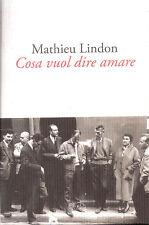 COSA VUOL DIRE AMARE di Mathieu Lindon Barbès Editore