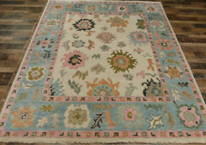 8'x10' Vege dyed Turkish Oushak Transitional Hand knotted wool Oriental area rug