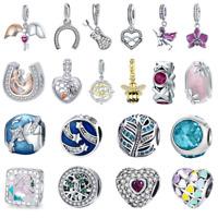 Wostu 925 Sterling Silver Charms Fit European bracelet Fashion Design Mutiple
