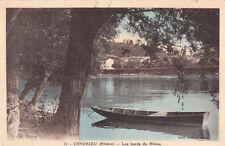 CONDRIEU 3 les bords du rhône barque photo combier coll petiot écrite 1945