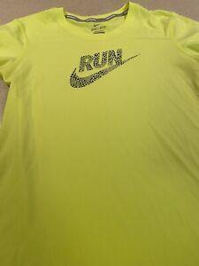Nike Dri-Fit Womens Sz Small S  Top Running T-Shirt Neon Yellow!
