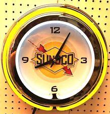 "15"" Sunoco Sign Double Neon Clock"