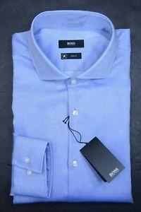 Hugo Boss Mens Jason Slim Fit Fresh Active Finest Swiss Fabric Dress Shirt 41 16