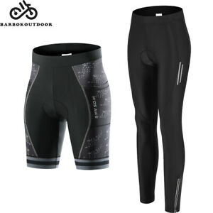 Womens Compression Cycling Tights Trouser Padded Cycle Leggings Pants Shorts