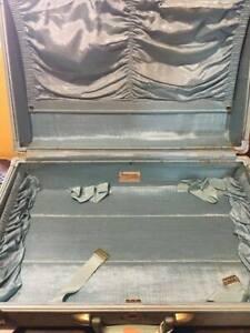 Vintage 1950's Samsonite Blue Tweed Suitcase
