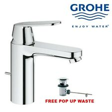 GROHE EUROSMART 233250 MONO BASIN BATH BATHROOM SINK MIXER TAP WITH POP UP WASTE