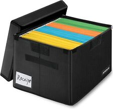 Fireproof File Storage Organizer Box With Lid Collapsible Document Safe Cabinet