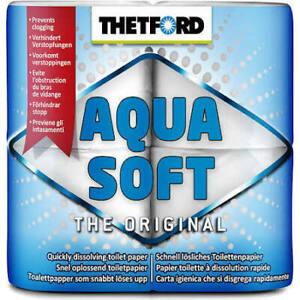THETFORD AQUA SOFT TOILET ROLL,PK OF 4.OPREVENTS CLOGGING.QUICK DISOLVES CARAVAN