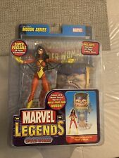 Marvel Legends Spider-Woman Red Action Figure Modok Toy Biz Hasbro w/Comic