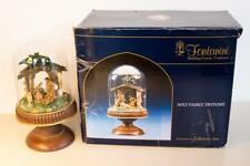 "Fontanini Holy Family Creche Manger 10"" Dry Dome Glass Cloche #50188 Orig Box"
