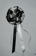 10 BLACK AND WHITE WEDDING  BOWS AND  DECORATIONS