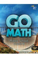 Grade 6 HMH Go Math Student Worktext Edition Common Core 6th 2014 Middle School