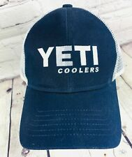 Yeti Navy Blue Baseball Cap Trucker Hat Genuine Coolers Adjustable New with Tags