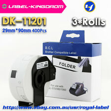3 Rolls Brother Compatible DK-11201 Labels 29mm*90mm All Include Plastic Holder