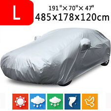 Large Full Car Cover Breathable Anti-Scratch Sun Dust Rain Resistant Protection
