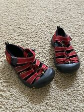 KEEN NEWPORT LITTLE KIDS WATER HIKING H20 SANDALS SHOES RED/BLACK US 13 UK 12