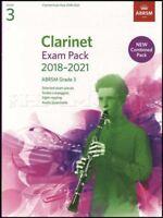 Clarinet Exam Pack 2018-2021 ABRSM Grade 3 Music Book/Audio Scales Arpeggios