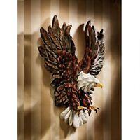 "Liberty's Flight Eagle Three-Dimensional Design Toscano 12"" Wide Wall Sculpture"