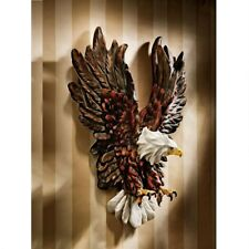 "Liberty's Flight Eagle Three-Dimensional Design Toscano 12"" Wide Wall Sculpture"