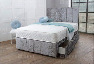 HILTON MEMORY FOAM DIVAN BED SET MATTRESS HEADBOARD 3FT 4FT6 Double 5FT King
