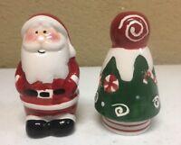 Santa and Christmas Tree Salt and Pepper Shakers