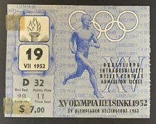 1952 Helsinki Summer Olympic Games Opening Ceremony Ticket