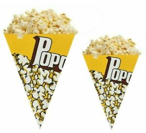Paper Popcorn Cones Cups 500ml & 750ml Home Buckets Commercial Event Use
