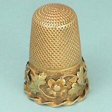 Fabulous Antique 15 Kt Rose & Yellow Gold Thimble * English * Circa 1850