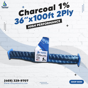 """Window Tint Charcoal 1% Protec 36""""x100ft High Performance 2PLY"""