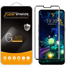 Supershieldz Full Cover Tempered Glass Screen Protector for LG V50 ThinQ (Black)