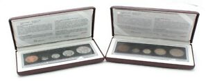 LOT OF 2 90TH ANNIVERSARY ROYAL CANADIAN MINT/PROOF SETS - NR #CB41-1
