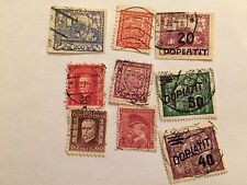 Set of 9 Czechoslovakia Stamps; Used (See Description for Details)