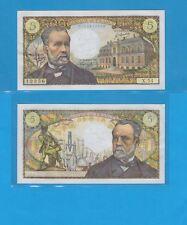Banque de France 5 Francs Pasteur du 5-5-1967 X.54 Billet N° 0134612356