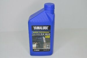 Yamalube 10W30 Outboard Marine Motor 4M FC-W Engine Oil Quart LUB-10W30-FC-12