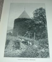1903 Antique Print SCHLOSS PLANTA OBERMAIS South Tyrol Italy