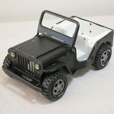 VTG 70s Tonka Toys Willy's Jeep Dispatcher No. 2200 Lime Green Painted Black