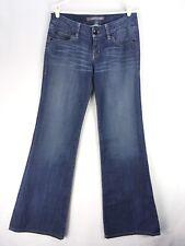 Level 99 Jeans 28 Wide Leg Blue Whiskering XR2482 Medium to Dark Anthropologie