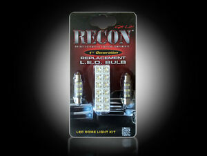 Recon LED Dome Light Kit 1999-2010 F250/350/450/550 Super Duty Bulb Replacement